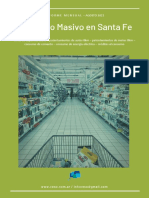 Consumo Masivo en Santa Fe - Agosto 2021 Dif