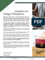 Angola – Alterações Aos %0D%0ACódigos Tributários