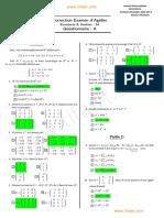 Correction Examen Algebre S4