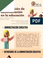 Construcción de Administración en La Educación