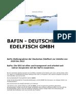 BaFin - Deutsche Edelfisch DEG GmbH