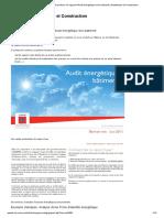 Analyser et produire un rapport d'Audit énergétique d'un batiment _ Architecture et Construction