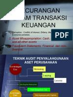 TEKNIK AUDIT kecurangan transaksi keuangan