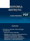 Sindrom nefrotic - pediatrie