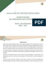 Dosificación de Secundaria 2020 (2)