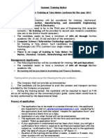Summer Training Notice 2009 (2)