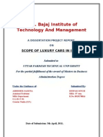 Dissertation. Scope of Luxury Car Brand in India2
