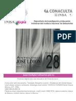 Antología de José Limón. Cuaderno 28 CENIDI DANZA