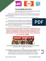 Tract syndicale dans les transports en commun de Metz Métropole
