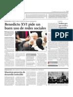BENEDICTO USO DE REDES SOCIALES