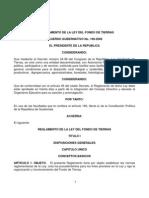 REGLAMENTO LEY FONDO DE TIERRA