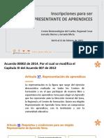 Requisitos y Funciones de Representantes de Aprendices