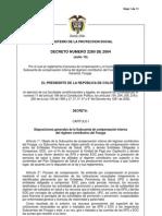 Decreto 2280 de 2004
