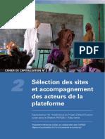 SECTION DES SITES ET ACCOMPAGNEMENT DES ACTEURS DE LA PLATEFORME
