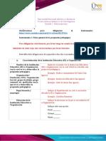 Instrumento I. Ficha general de la propuesta pedagógica