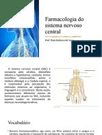 4.2 Farmacologia do sistema nervoso central