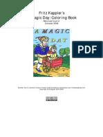 """Fritz Kappler's """"A Magic Day Coloring Book"""""""