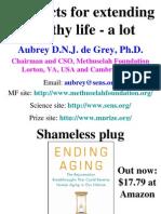 Ending Aging Aubrey De Grey Pdf