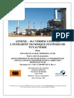 ANNEXE- 10.3 Integrite Technique- Systèmes deTuyauterie