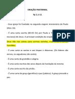 ORAÇÃO FRATERNAL
