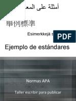 C01 - Normas Apa, taller para escribir, 2011
