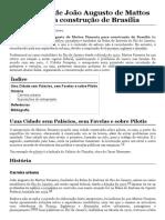 Anteprojeto de João Augusto de Mattos Pimenta para construção de Brasília – Wikipédia, a enciclopédia livre