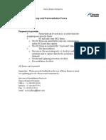 Site Survey Forms - (Best Practices Guide Supplement)