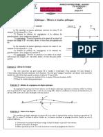 TD 3 finale optique geometrique Éléments Sphériques _ Miroirs et dioptres sphériques Pr EL JAROUDI