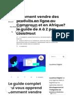 Comment vendre des produits en ligne au Cameroun et en Afrique_ le guide de A à Z par LocalHost - LocalHost Digital - Meilleure Agence Web et Digitale au Cameroun