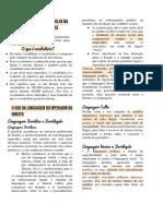 Resumo do Slide Cláudia Especificidades