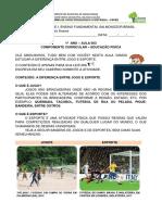 AULA 003 - Diferença entre jogo e esporte