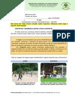 Aula 005 - 5º Ed. Fis. - Esportes diferença entre jogo e esporte