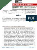 V EXPERIENCIA DE APRENDIZAJE - ACT 3-  3° y 4° GRADO TUTORIA ...