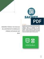 MEMORIA TECNICA Y DE CALCULO PROY HIDRAULICO PARQUE CUITLAHUAC 19.04.04