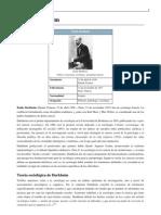 Emile Durkheim-Sociologo