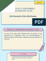 mots et categorie grammaticale