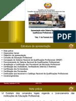 Apresentacoes Sobre Sistema de Qualificacoes Profissionais Do Sector Do ETP(SPAS)