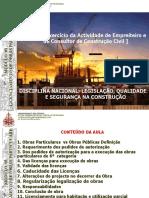 AULA 3 - Exercício da Actividade de Empreiteiro e de Consultor de Construção Civil