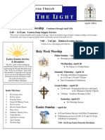 Farmington Lutheran Church April 2011 Newsletter