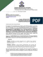 Oficia a Alcaldía sobre Caballos Cocheros