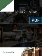 Unità 2 – Al bar