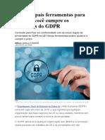 14 principais ferramentas para saber se você cumpre os requisitos do GDPR