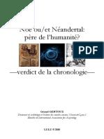 Noe Ou Et Neandertal Pere de Lhumanite V