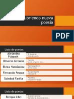Descubriendo nueva poesía