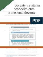 Carrera Docente y Sistema de Reconocimiento Profesional Docente