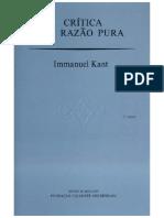 Critica da razão pura (Prefacio a Segunda Edição e Introdução), Immanuel Kant