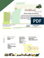 Certificado De Máquinas Agrícolas Trator - Airton Araújo De Oliveira 2021