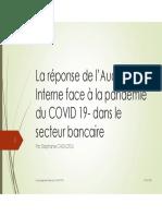 La Réponse de l'Audit Interne Face à La Pandémie Du COVID 19- Dans Le Secteur Bancaire