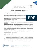 F-DP-07 - Programa de curso Acercamiento integral y pedagógico de estudiantes con Trastorno del Espectro Autista.