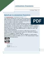 Metodi per la valutazione finanziaria